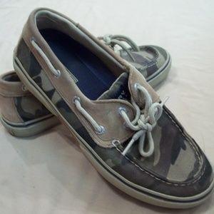 Men's Sperry Camo Shoes Size8